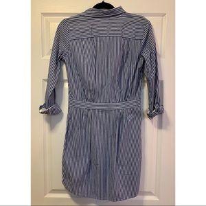Banana Republic Dresses - Banana Republic pinstripe collared shirt dress